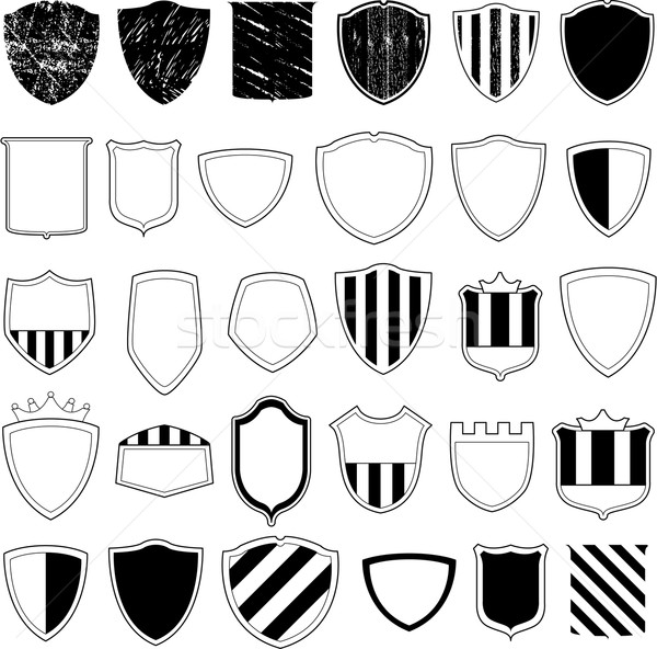 Vector shields collection Stock photo © hugolacasse