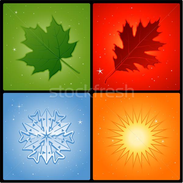 Cztery pory roku wygaśnięcia charakter świetle liści lata Zdjęcia stock © hugolacasse