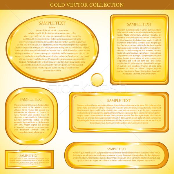 Wektora złota ramki ściany sztuki polu Zdjęcia stock © hugolacasse