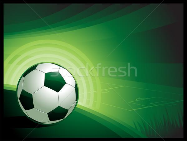 Színes grunge futball fű futball háttér Stock fotó © hugolacasse