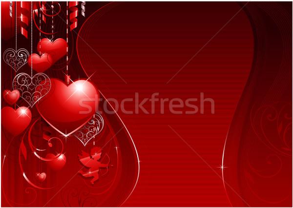 Valentin nap dekoratív terv buli szeretet háttér Stock fotó © hugolacasse