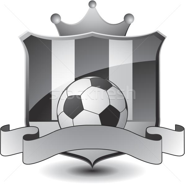 Футбол эмблема дизайна пространстве команда мяча Сток-фото © hugolacasse