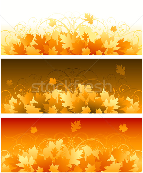 Decorative swirling autumn design Stock photo © hugolacasse