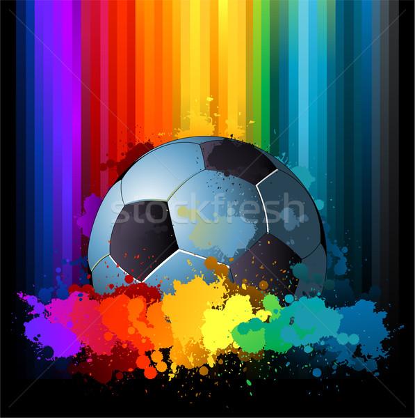Kolorowy grunge piłka nożna trawy piłka nożna tle Zdjęcia stock © hugolacasse