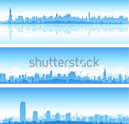 Cityscapes sylwetki budynku wygaśnięcia tle miejskich Zdjęcia stock © hugolacasse