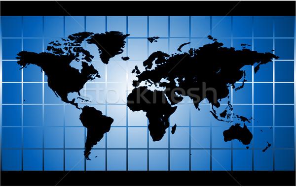 Kék világtérkép tér térkép háttér Föld Stock fotó © hugolacasse