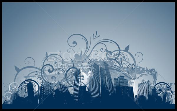 Streszczenie miasta projektu samochodu budynku charakter Zdjęcia stock © hugolacasse