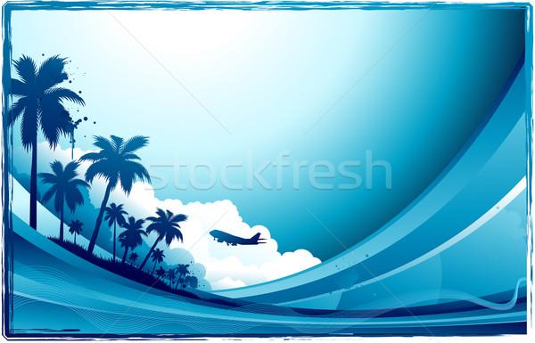 Tropical verão projeto água sol pintar Foto stock © hugolacasse