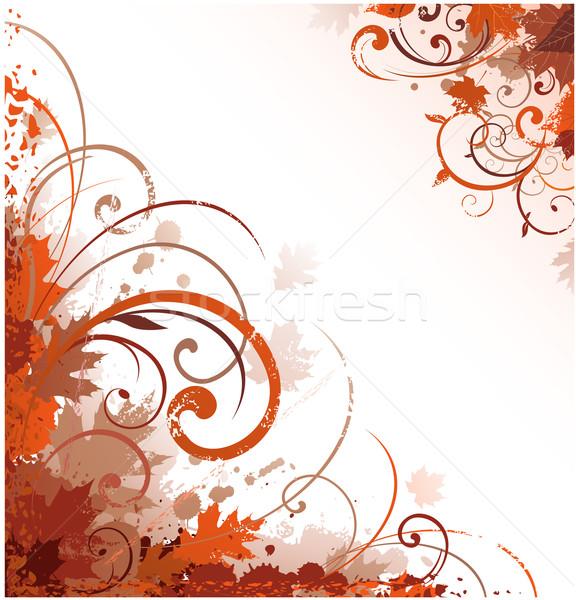 Virágmintás ősz terv virág természet festék Stock fotó © hugolacasse