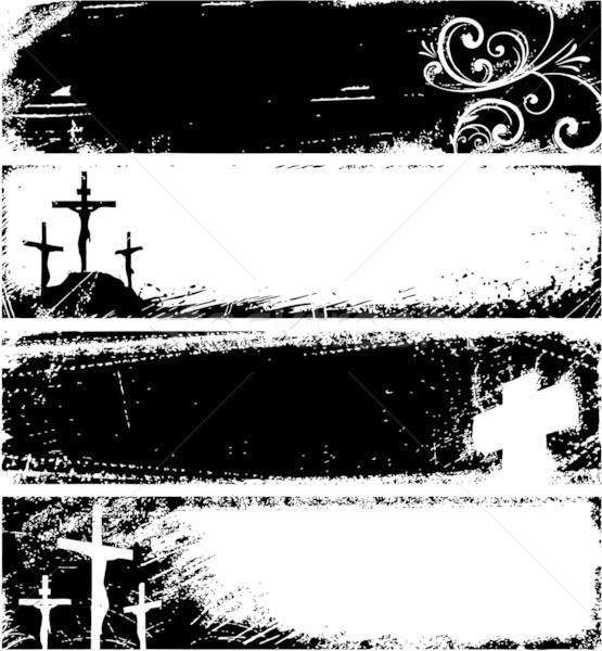 Zdjęcia stock: Grunge · Christian · banery · krzyż · tle · Biblii
