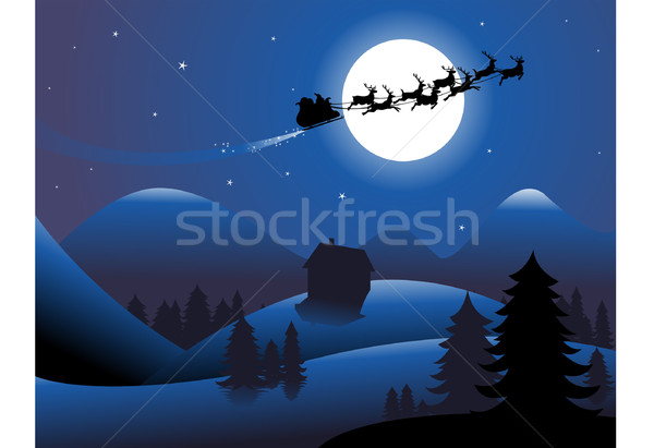Christmas background Stock photo © hugolacasse