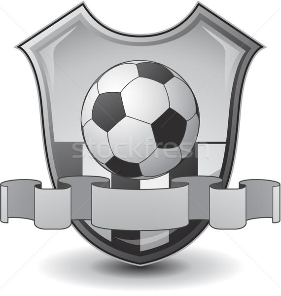 Piłka nożna godło projektu przestrzeni zespołu piłka Zdjęcia stock © hugolacasse