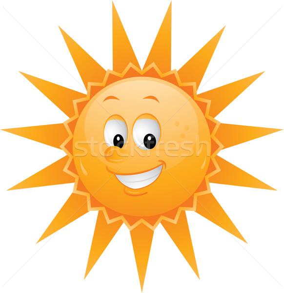 Cartoon słońce uśmiech twarz usta Zdjęcia stock © hugolacasse