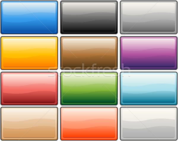 Glossy media internet buttons Stock photo © hugolacasse