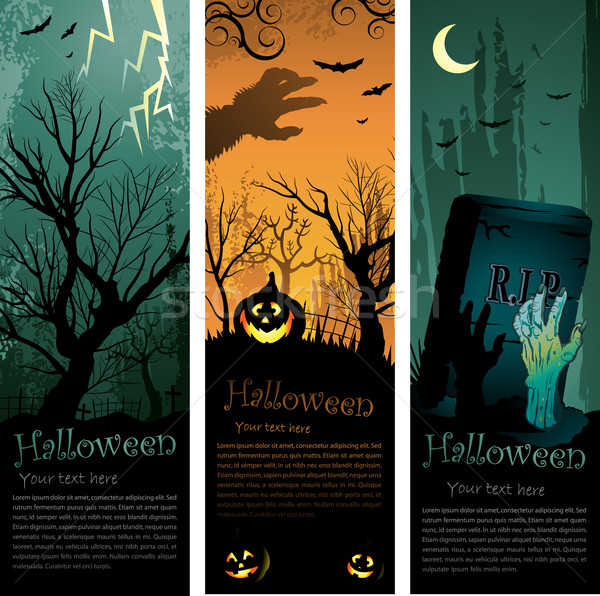 Halloweens vertical banners Stock photo © hugolacasse