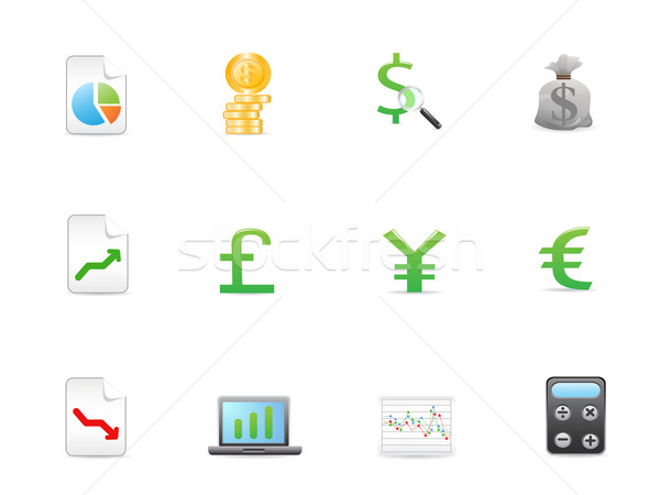 Economie financieren iconen ontwerp Stockfoto © huhulin