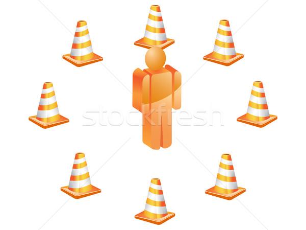 Stock fotó: 3D · szimbólum · emberek · forgalom · körül · utca