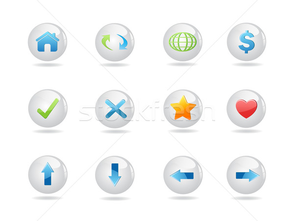 shiny round web icons Stock photo © huhulin
