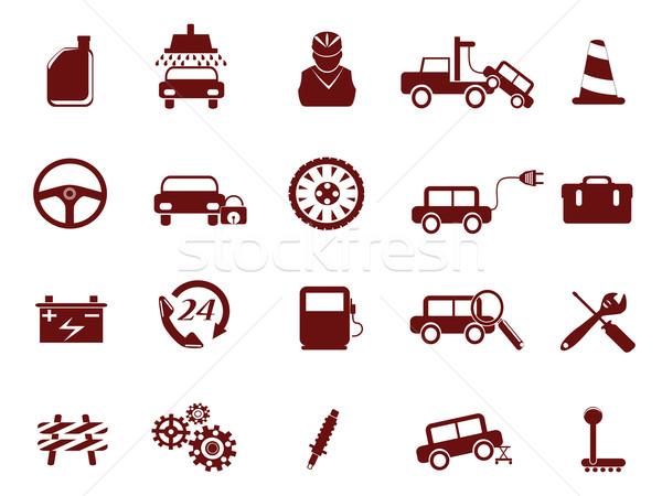 Auto auto dienst icon ontwerp Stockfoto © huhulin