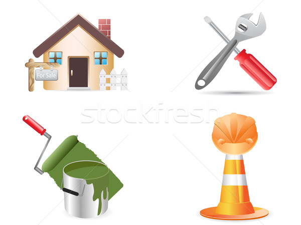building and construction website icons  Stock photo © huhulin