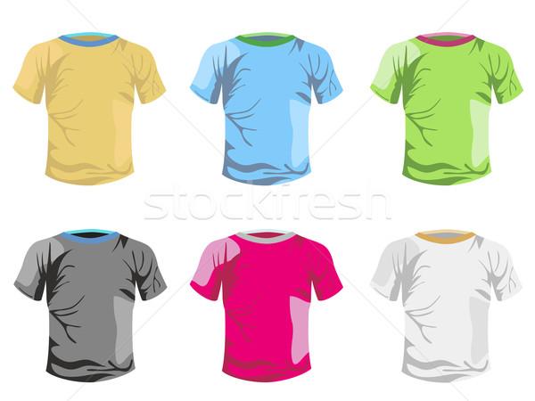 Kolor tshirt wektora szablon projektu człowiek Zdjęcia stock © huhulin