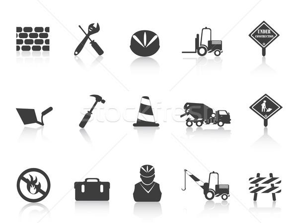 black Construction icon Stock photo © huhulin