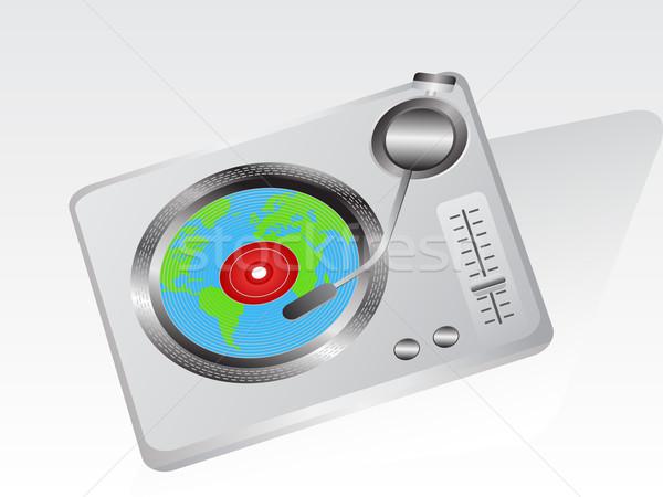 Terre tourne-disque une record fête internet Photo stock © huhulin