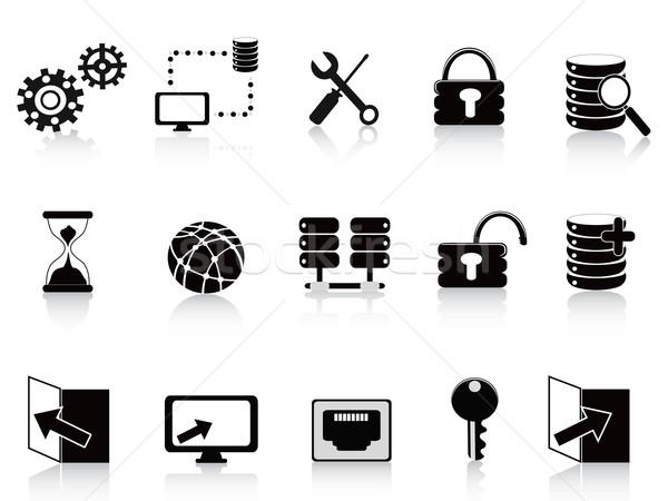 black database and technology icon Stock photo © huhulin