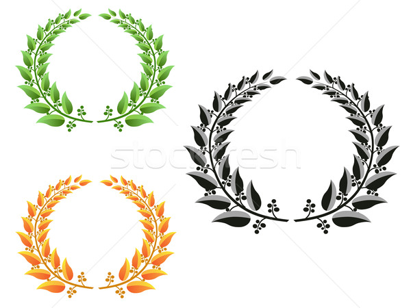 лавры три различный цвета дерево спорт Сток-фото © huhulin