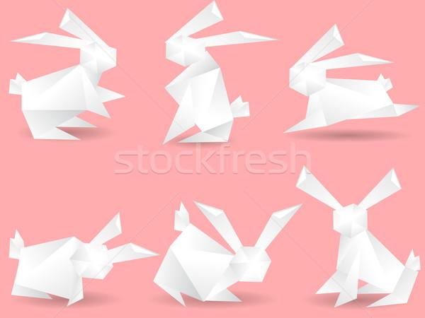 paper rabbits Stock photo © huhulin