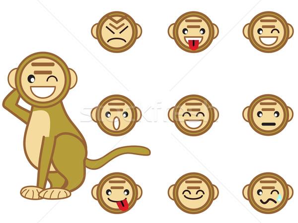 funny monkey face Stock photo © huhulin