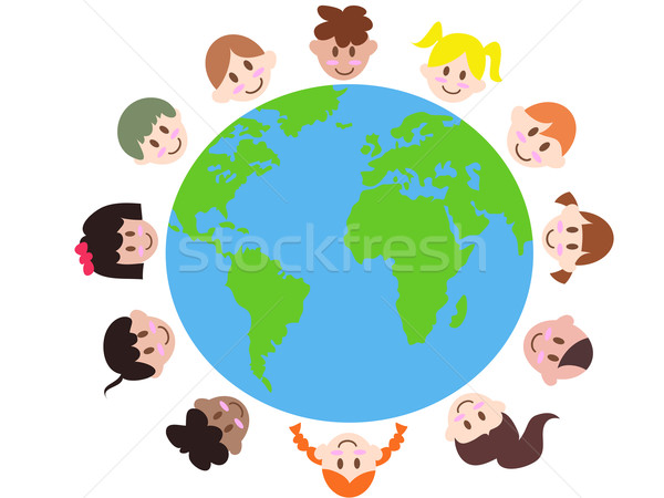 various kids around the earth  Stock photo © huhulin