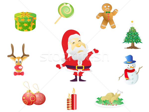 christmas icons  Stock photo © huhulin