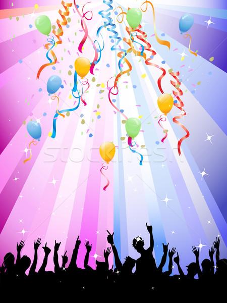 Feliz multidões festival colorido festa dançar Foto stock © huhulin
