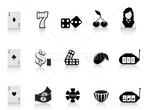 Noir jeux icône design argent Photo stock © huhulin