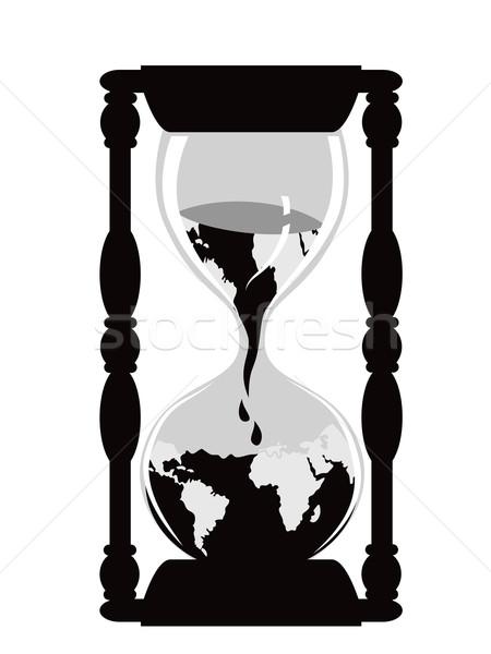 земле песочных часов изолированный час Смотреть белый Сток-фото © huhulin