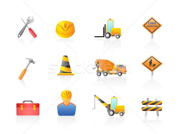 Construction Icon set Stock photo © huhulin