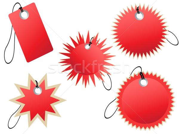 Ayarlamak kırmızı dizayn iş Internet Stok fotoğraf © huhulin