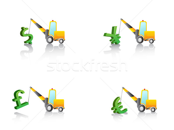 crane hang with money signs Stock photo © huhulin