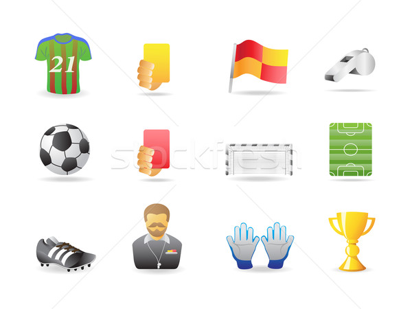 soccer icons  Stock photo © huhulin