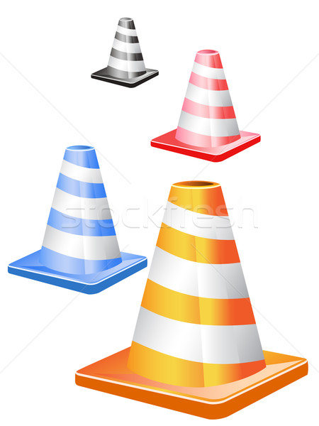 traffic cones in a row Stock photo © huhulin