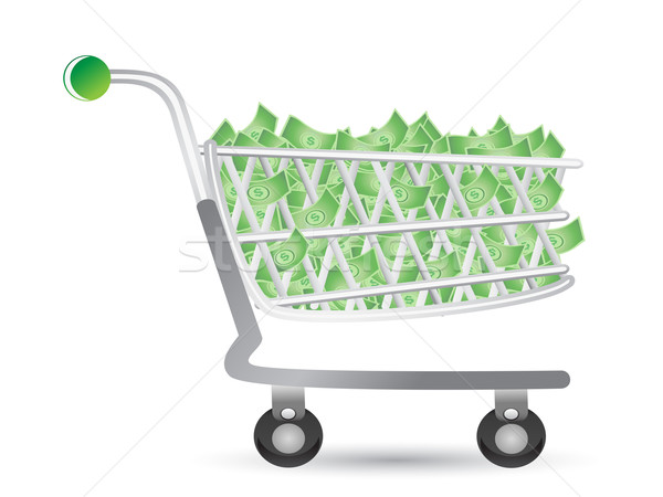 shopping cart filled with money Stock photo © huhulin