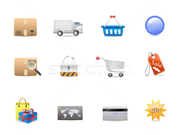 shopping consumerism icon set Stock photo © huhulin