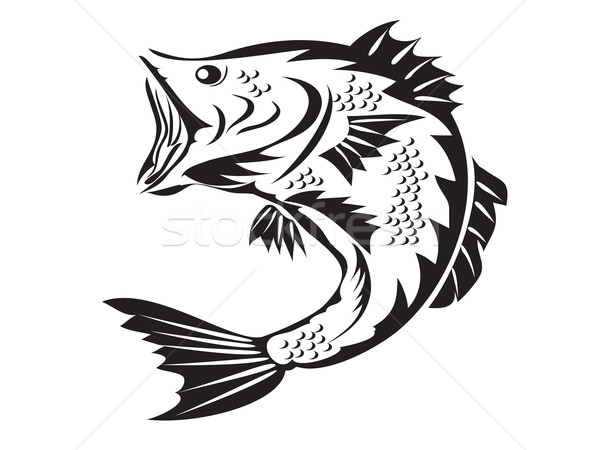 fishing symbol - bass Stock photo © huhulin
