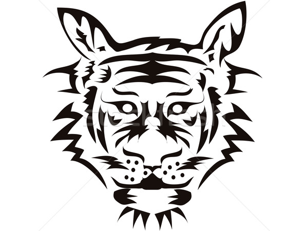 tiger head Stock photo © huhulin