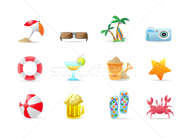 beach icons and products  Stock photo © huhulin