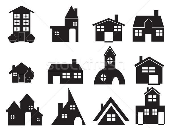Conjunto casa ícones web design edifício Foto stock © huhulin