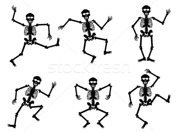 Taniec odizolowany biały czarny tancerz osoby Zdjęcia stock © huhulin