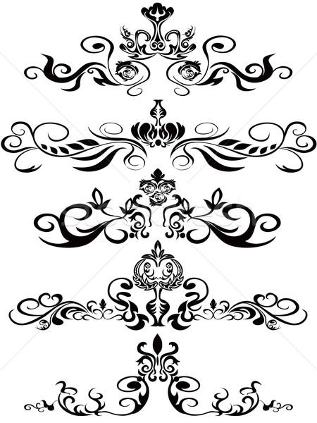 preto design flor fundo arte coroa ilustra o de vetor lin nai hen huhulin. Black Bedroom Furniture Sets. Home Design Ideas