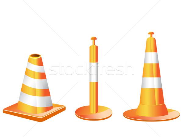 Photo stock: Différent · type · trafic · orange · couleur · sécurité